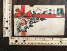 1910 First Day of Issue Cover Christmas Santa Claus Holly~115339