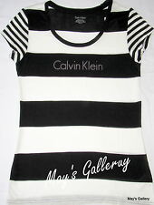 Calvin Klein T-shirt  Logo T Shirt Tank  Top Tee Blouse  SS NWT Woman C K CK  S