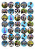 35 FORTNITE 3.5cms Edible Wafer Paper Cupcake Cup Cake DecorationToppers Images