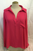 PLEIONE Women's Pink Blouse Pullover Long Sleeve Tunic Top Shirt Size S