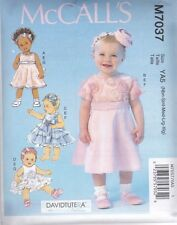 McCALL'S SEWING PATTERN INFANTS DRESSES PANTIES & HEADBANDS Size NB - XL  M7037