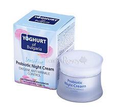 Yogur de Bulgaria Probiótico Crema de noche con aceite de rosa, Yogur-Piel Sensible