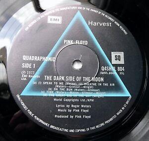 PINK FLOYD Dark Side Of The Moon  1973 UK HARVEST *QUADRAPHONIC* NEAR MINT