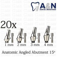 20 Angular Anatomic Titanium Abutment 15' hex Dental Implant Lab Prosthetics