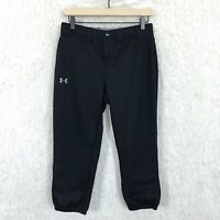 Under Armour Black Softball Capris Pants Baseball Fitted Stretch Womens Small