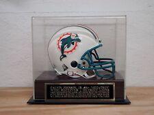 Display Case For Your Calvin Johnson Jr. Lions Autographed Football Mini Helmet