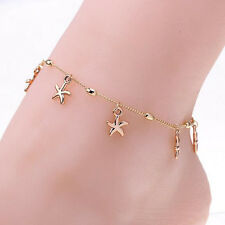 Women Charm Gold Starfish Chain Anklet Bracelet Barefoot Sandal Foot Jewelry New