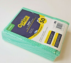 50 x Large  GREEN  All Purpose Cleaning Cloths Car Kitchen Wiping Dusters