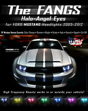 Ford Mustang FANGS MultiColor LED Halo-Angel Eyes Rings kit - RF REMOTE Buy It