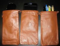 Super SALE NOW! (3) Genuine LEATHER Sunglasses Case Pouch MARLBORO COUNTRY STORE