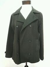 STUSSY Jacket Peacoat Military Army Olive Green Coat Wool Womens Medium M $160