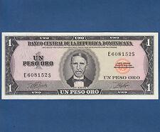 DOMINICAN REPUBLIC 1 Peso Oro 1977  UNC P.108a