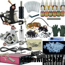 NEW 2 Machine Tattoo Kit Motor Guns Equipment 12 Ink Set Tattoo _TA003