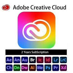 Adobe Creative Cloud all apps, 2 year subscription, 100GB cloud storage
