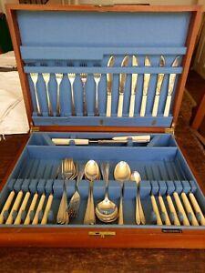 58 piece Walker & Hall Silver Cutlery Canteen Pride design by David Mellor