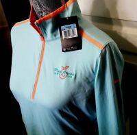 NWT Womens Nike Plum Creek Golf Club CC Logo Long Sleeve 1/2 Zip Golf Jacket M