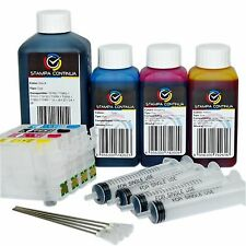 Cartucce ricaricabili auto reset chip compatibile Epson 16 xl WF-2630WF + 550ml