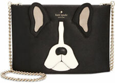 Kate Spade PXRU7961 MA Cherie Antoine French Bulldog Sima Clutch Crossbody Bag