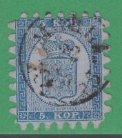 Finland 4 Very Fine  5 Kop 1860 Mohla Cancel Extremely Rare! R5 Level Rarity - §