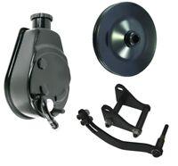 Power Steering Pump Pulley Bracket BLACK Chevy Saginaw P Pump 305 327 350 400