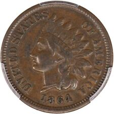 1864 1C Indian Cent PCGS VF30, L On Ribbon