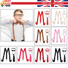 Boys Baby Toddler Children Adjustable Washable Braces Suspenders 1-16 Years