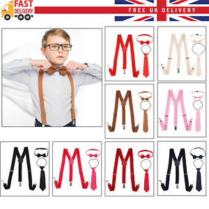 Boys Baby Toddler Children Adjustable Washable Braces Suspenders 1-16 Years