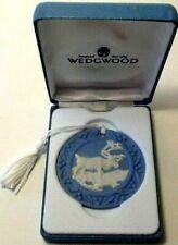 Wedgwood 1997 Annual Ornament - Reindeer - Blue Jasperware