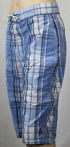 KIDS Polo Ralph Lauren Blue Plaid Board Shorts Trunks NWT