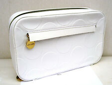 Estee Large Lauder White Vinyl Travel Bag/ Make Up Case New