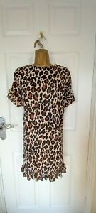"""NWT I Saw it First size UK-16 shift dress in animal print BUST 44"""""""