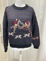 Vintage Woolrich Woman Jumper Sweater Horse & Hound Logo - Large