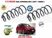 FOR FIAT 500L 1.4 1.3D 1.6D MULTIJET DIESEL 2012-> NEW 2 X REAR COIL SPRINGS SET