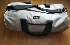 Victoria's Secret Love Pink Duffel / Gym Bag - Grey with Lime Green Trimming