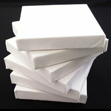 "6 x Blank Artists Canvas 20 x 20 cm Deep Edge 3D Wooden 8"" x 8"" Primed NEW"