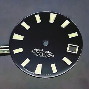 For NH35 NH36 Watch Movement 28.5MM C3 Green Luminous Watch Dial