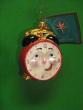 "Radko Wake Up Call 3 1/2"" Clock Ornament 1012462 Vintage Retired NWT"
