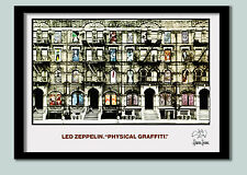 Led Zeppelin Poster . Physical Graffitti Promo No 2 . Large 70 x 50 cm Print