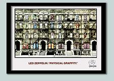 Led Zeppelin Poster . Physical Graffiti  Promo No 2 . Large 70 x 50 cm Print