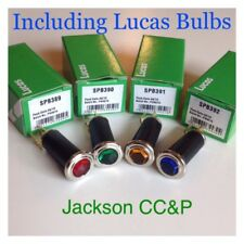 LUCAS HEX JEWEL WARNING LAMPS RESTORES PACK BLUE, RED, AMBER GREEN + BULBS