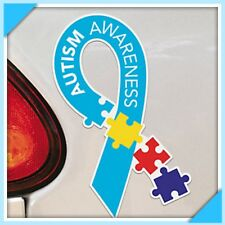 New In Box Lot of 12 Autism Awareness Puzzle Piece Ribbon Car Home Magnet