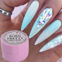 10g UV Nail Glue Decor Gems Glitter Rhinestones Sticky Adhesives Nail Art Gel