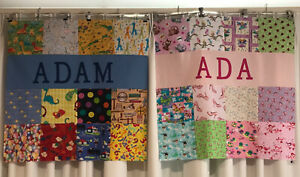 """Babies Personalised """"I SPY"""" Patchwork Quilt / Playmat / Pram Blanket - ANY NAME"""