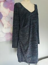 Ex M/&S CURVE Half Sleeve Mesh Midi Dress Marks and Spencer 18-26