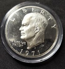 1971 S Eisenhower Silver Proof Dollar Ike Deep Cameo Gem