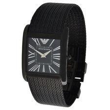 Emporio Armani quadratische Armbanduhren aus Edelstahl für Damen