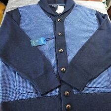 Daniel Cremieux Collection Men Cardigan Jacket XXL Navy Cotton/Cashmere $150 New