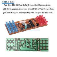 Red Blue Dual-Color Detonation Flashing Light DIY Kit Electronic Suit module