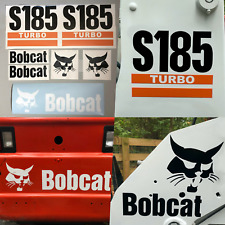 Bobcat S185 Turbo (SET OF 7) Skid Steer Replacement Aftermarket Vinyl Decals