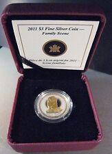 "2011 Canada $3 Silver Proof Coin ""Family Scene"" Box/COA ** Free U.S. Shipping **"